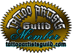 Proud member of the Tattoo Artists Guild